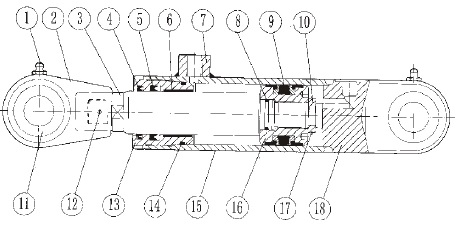 hsg工程液压缸结构图